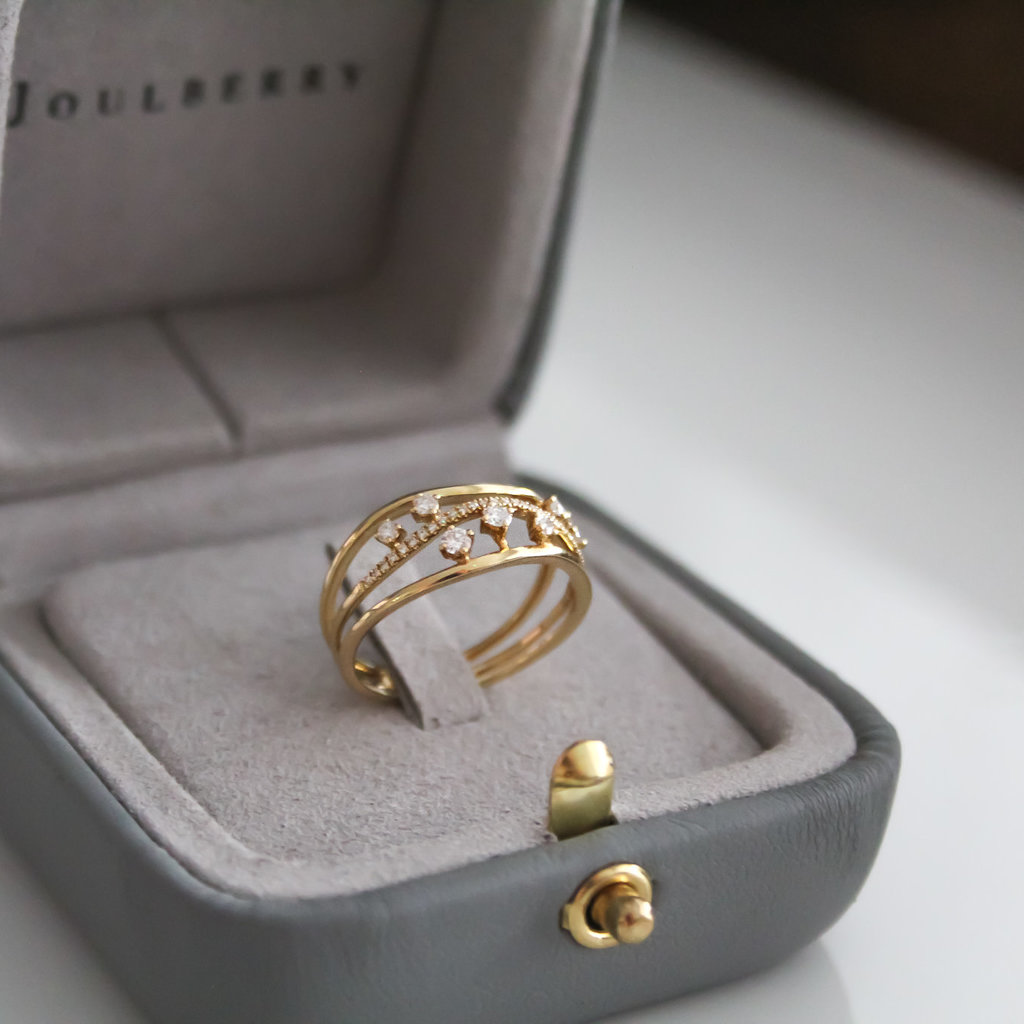 Joulberry Vogue Gold Evelyn Diamond Ring