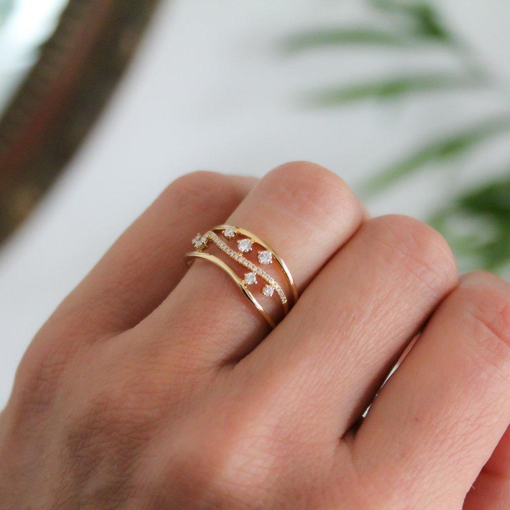 MONROE Gold Evelyn Diamond Ring