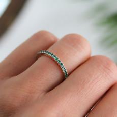 Gold Emerald Elphaba Ring