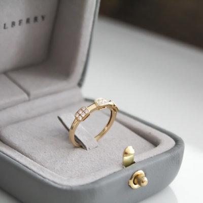 TATE Gold Trinity Diamond Cluster Ring
