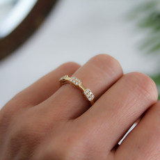 Gold Trinity Diamond Cluster Ring