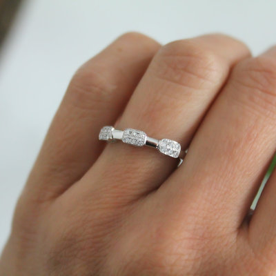 Joulberry Vogue White Gold Trinity Diamond Cluster Ring