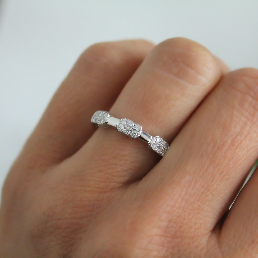 Joulberry White Gold Trinity Diamond Cluster Ring