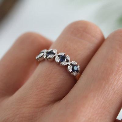 Sapphire and Diamond Thea Ring