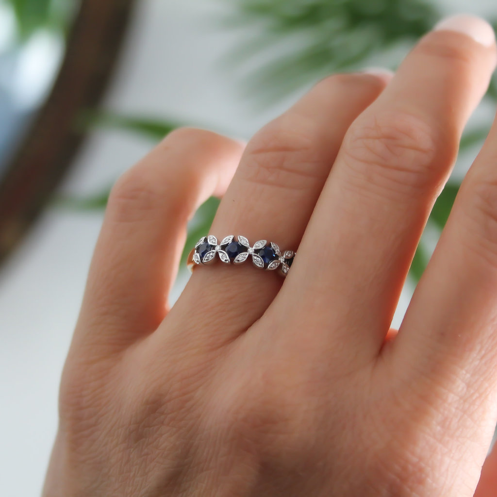 Joulberry Sapphire and Diamond Thea Ring
