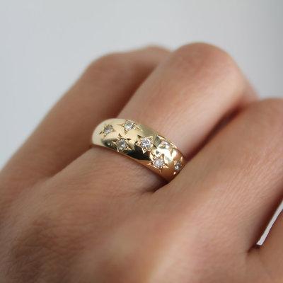 LUNAR Gold Samara Diamond Ring