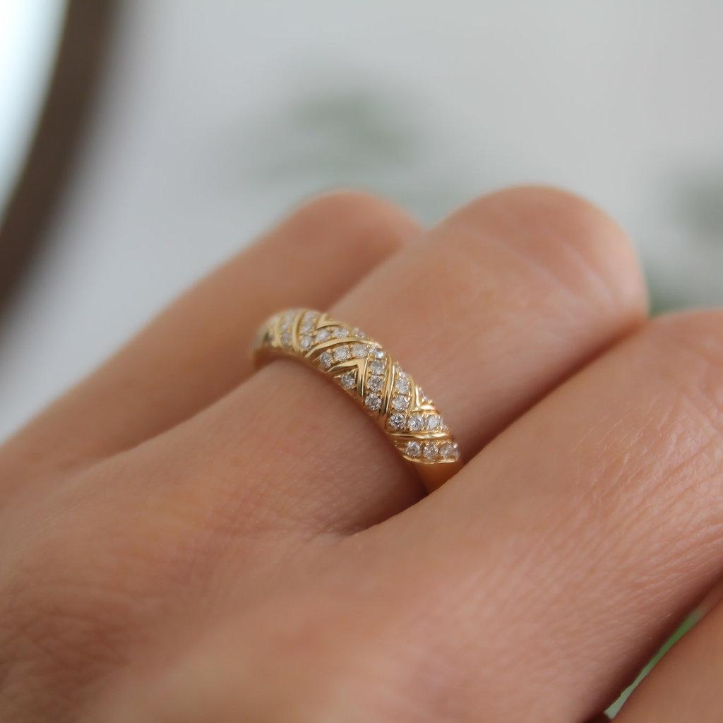 Joulberry Vogue Gold Jasmine Diamond Ring