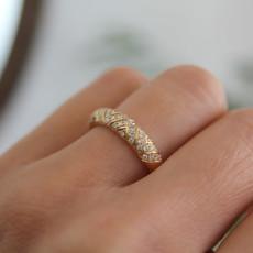 Joulberry Loren Gold Jasmine Diamond Ring