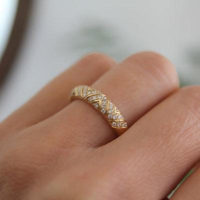 Gold Jasmine Diamond Ring