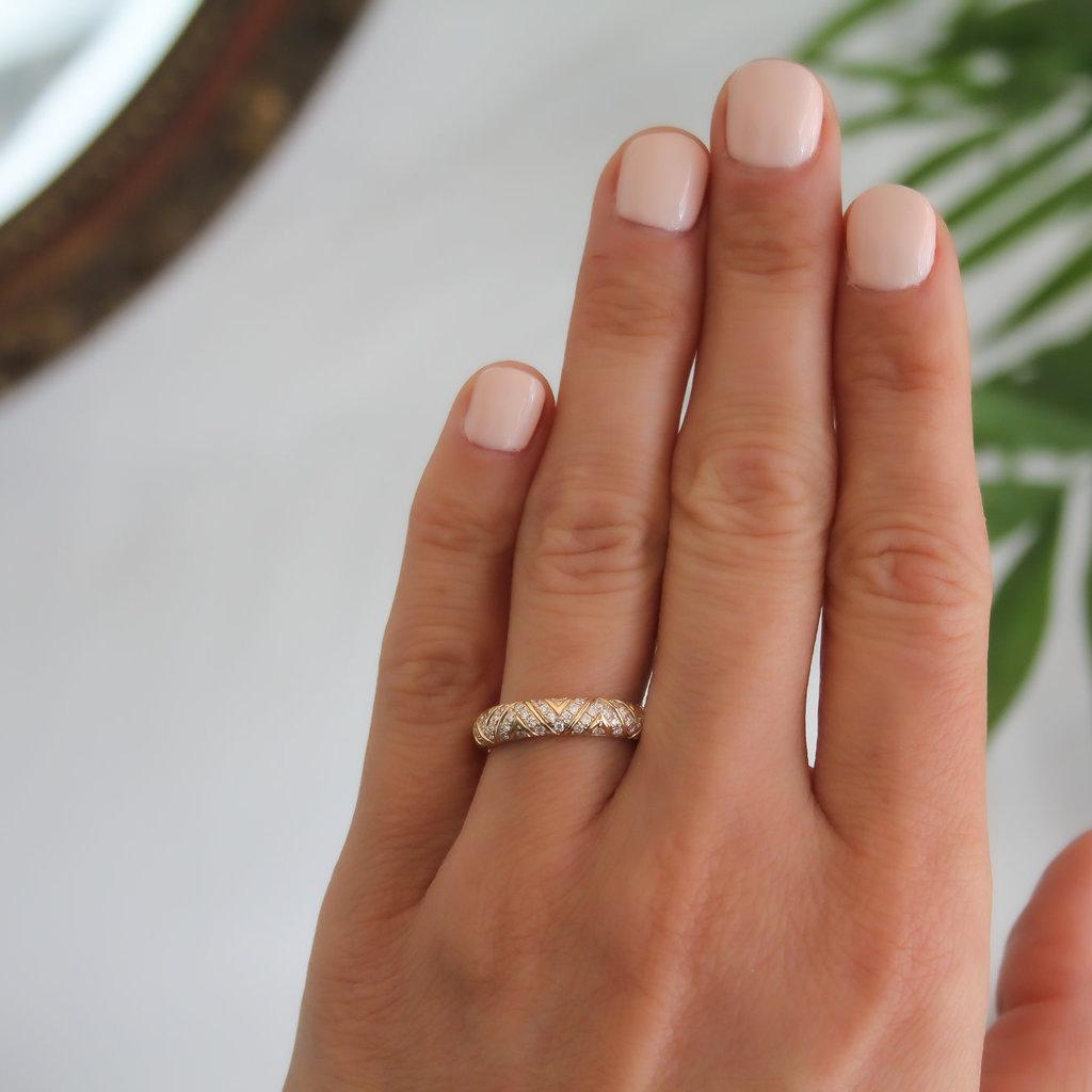 BOHO Gold Jasmine Diamond Ring
