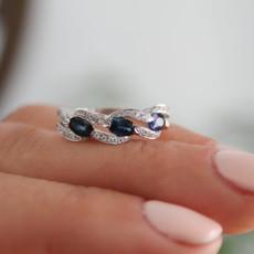 GATSBY White Gold Sapphire and Diamond Talia Ring