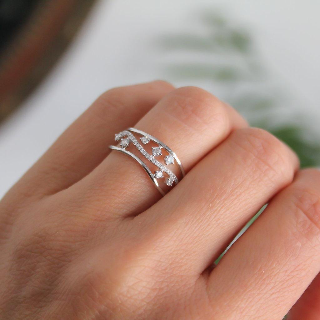 MONROE White Gold Evelyn Diamond Ring