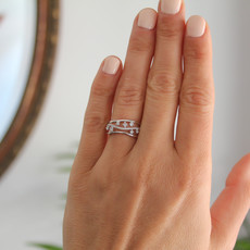 Joulberry Vogue White Gold Diamond Evelyn Ring