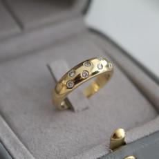 Loren Gold Star Diamond Ring