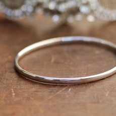 Joulberry White Gold Elipse Bangle