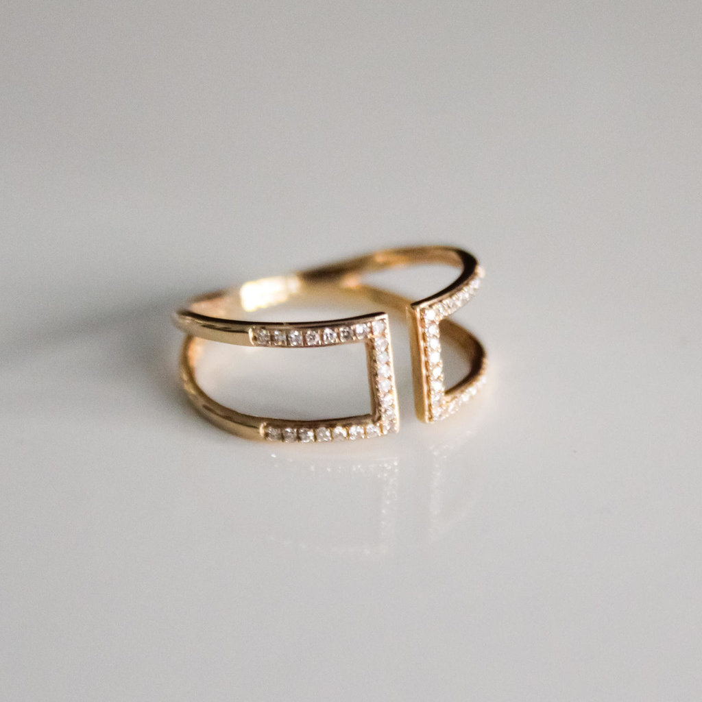 Gold Capri Diamond Ring