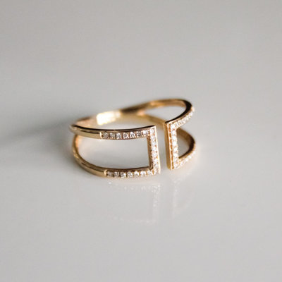Gold Capri Diamond Ring