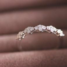 White Gold Rosebay Diamond Ring