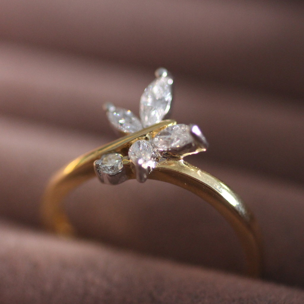 Lulworth Gold  Butterfly Diamond Ring