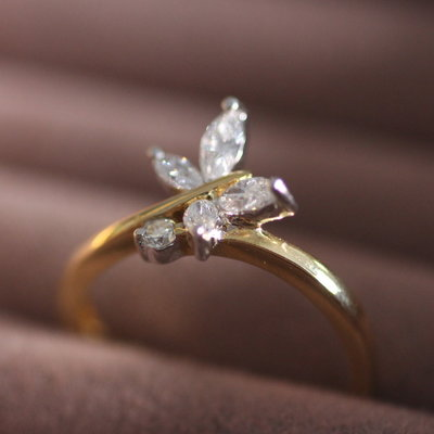 Joulberry Lulworth Gold  Butterfly Diamond Ring