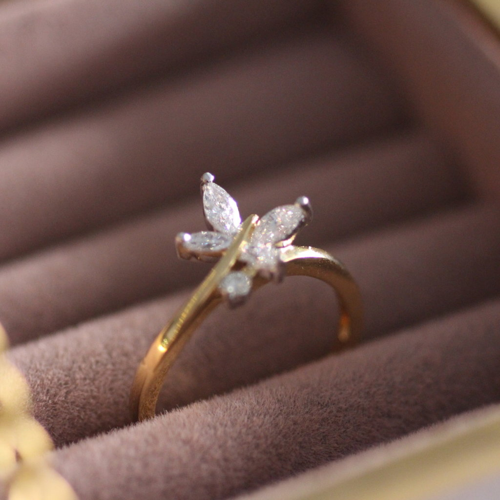 BLOSSOM Gold  Butterfly Diamond Ring