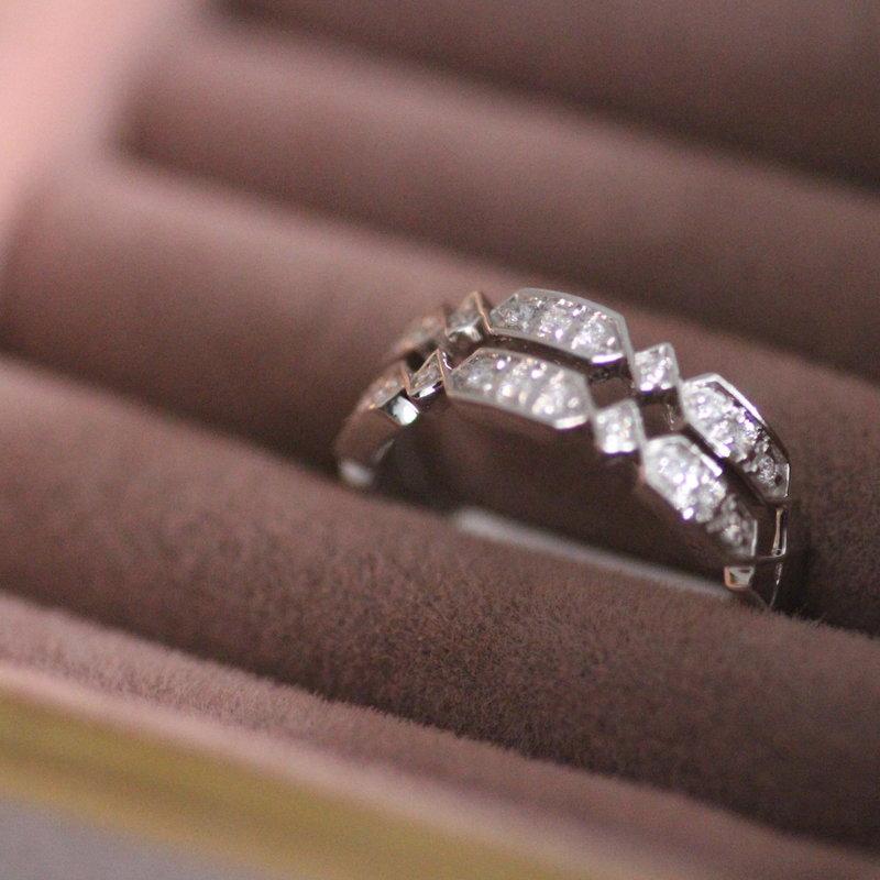 GATSBY White Gold Harriet Diamond Ring