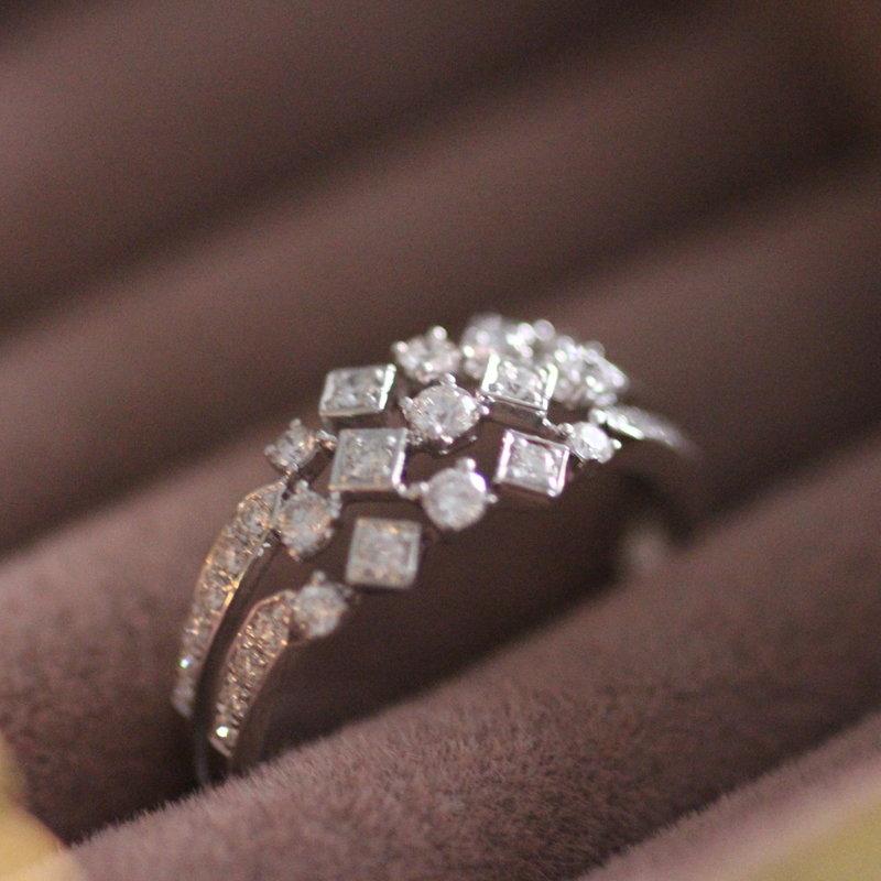 TATE White Gold Amaya Diamond Ring