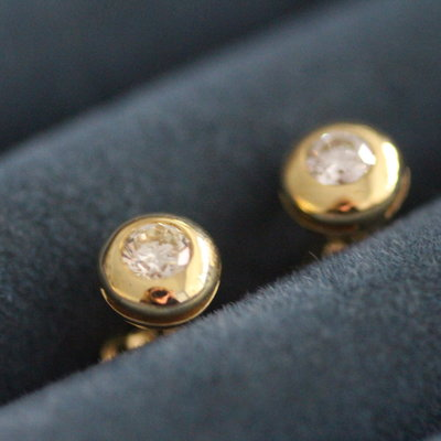 Joulberry Vogue Golden Diamond Earrings