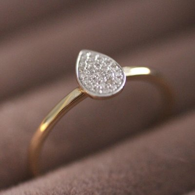 Joulberry Gold Monique Teardrop Diamond Ring