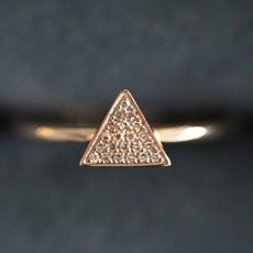 Rose Gold Monique Geo Diamond Ring