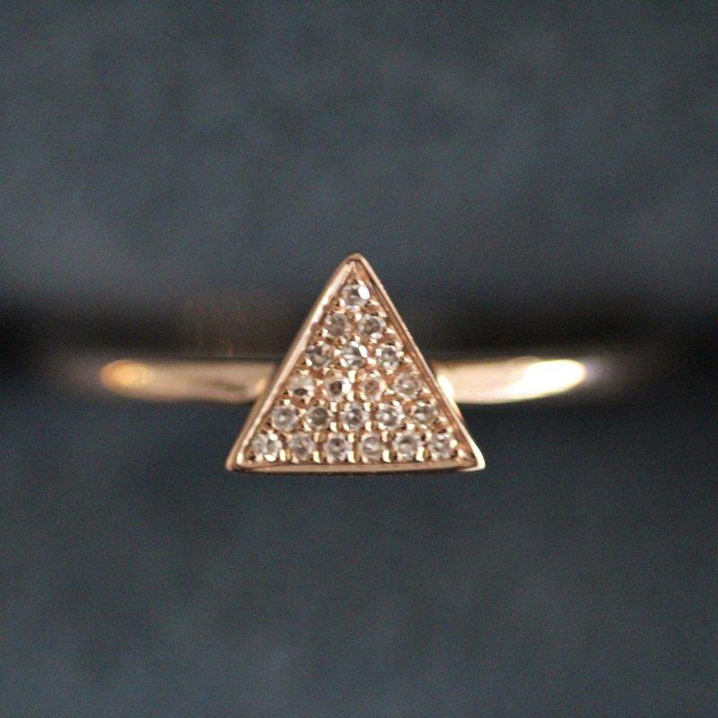 TATE Rose Gold Monique Geo Diamond Ring