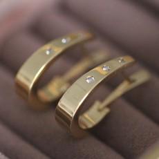 BARDOT Gold Diamond Vogue Hoops