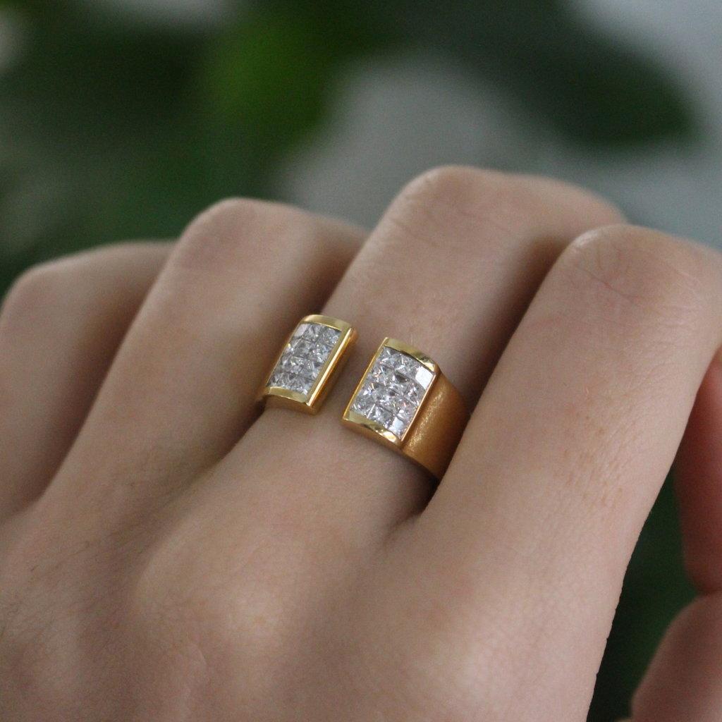 BARDOT Gold Melrose Diamond Ring