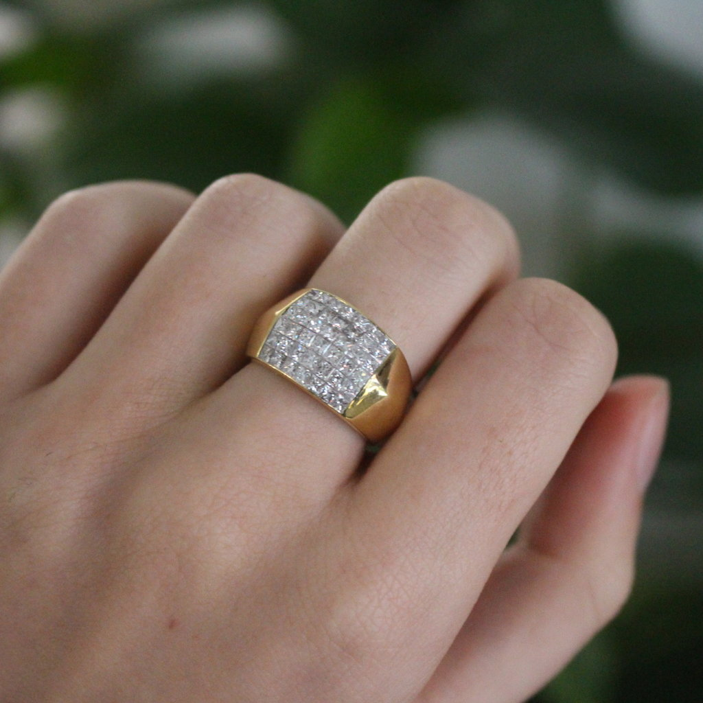 BARDOT Gold Diamond Arquette Ring