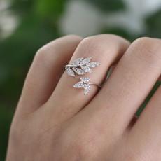 Joulberry White Gold Diamond Swallowtail Ring