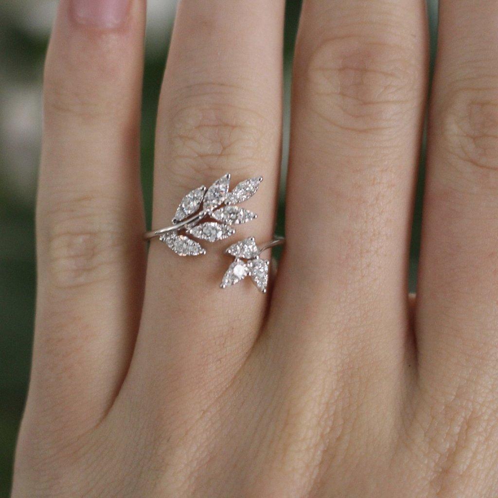 BLOSSOM Diamond Swallowtail Ring