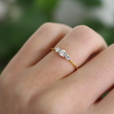 Joulberry Vogue Gold Diamond Bryony Ring