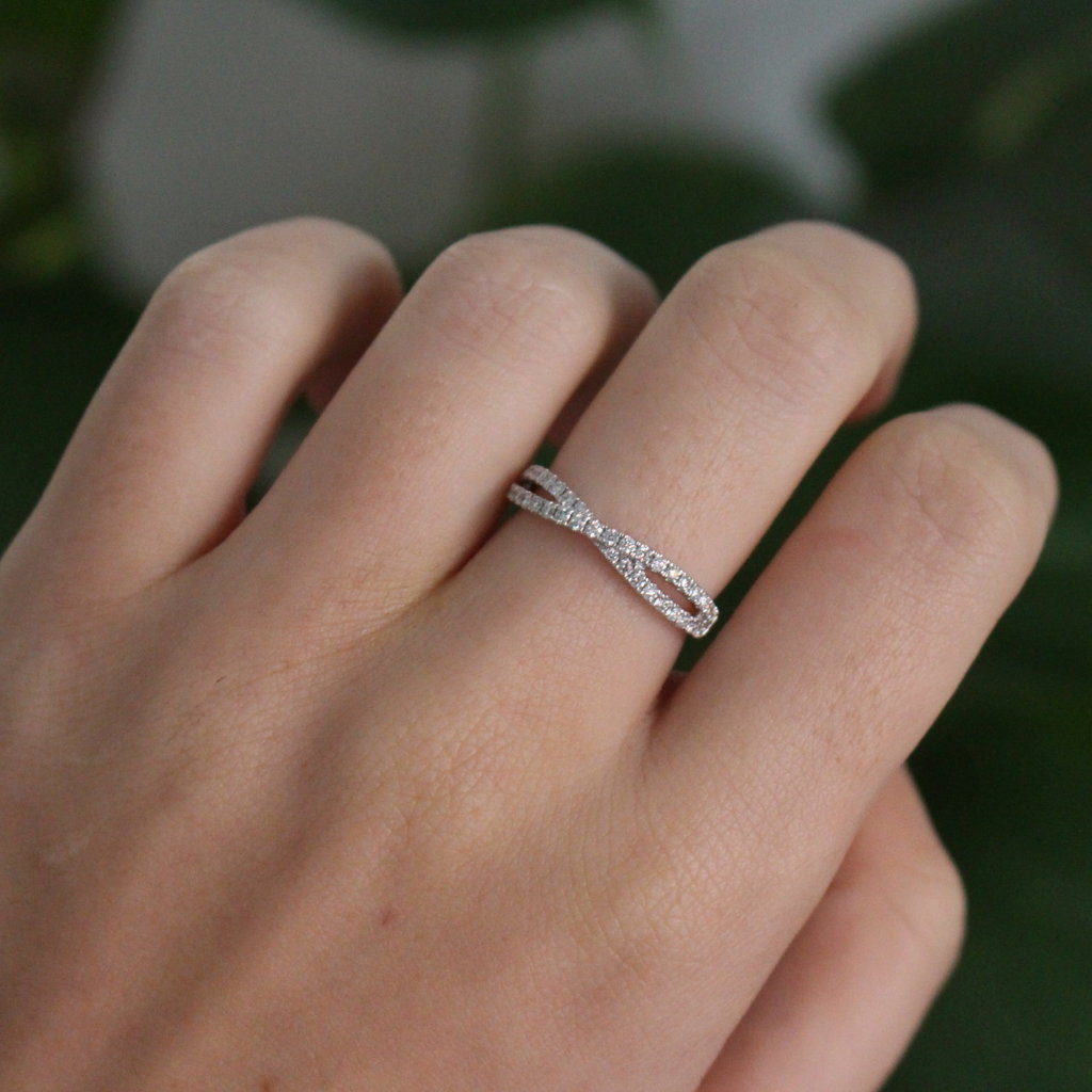 Joulberry White Gold Tamara Diamond Ring