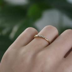 TATE Gold Lilly Trio Diamond Ring