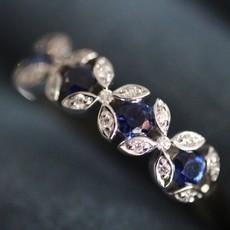 GATSBY Sapphire and Diamond Elise Ring