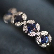 GATSBY White Gold Sapphire and Diamond Elise Ring