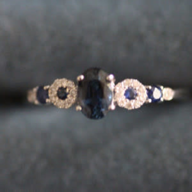 Gatsby White Gold Odette Sapphire and Diamond Ring