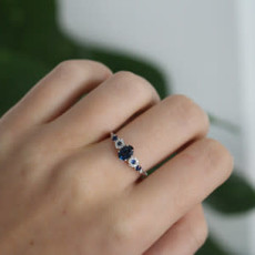 Vogue Odette Sapphire and Diamond Ring
