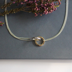 Joulberry Silver and Gold Infinity Poem Necklace