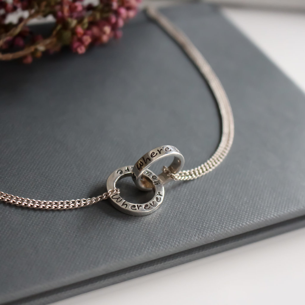 Joulberry Silver Infinity Poem Necklace