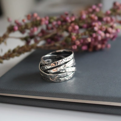 Joulberry Amor Silver Ava Ring