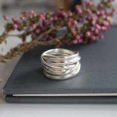 Amor Silver Wrap Ring