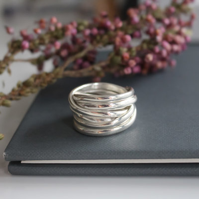 Joulberry Amor Silver Wrap Ring