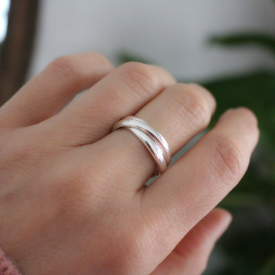 Joulberry Amor Silver Tres Ring