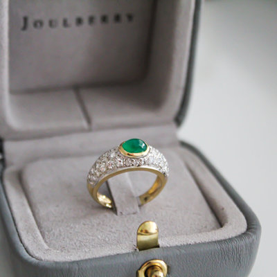 Joulberry Bardot Emerald and Diamond Ring